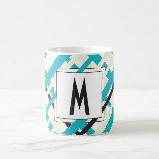 Monogram Striped Coffee Mug