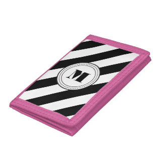 Monogram stripes wallet - diagonal