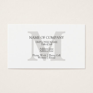 Monogram Stylish Classic Elegant Monogrammed Business Card