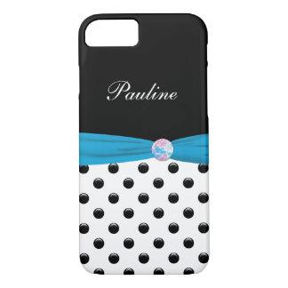 Monogram Stylish Polka Dot And Bow iPhone 7 Case