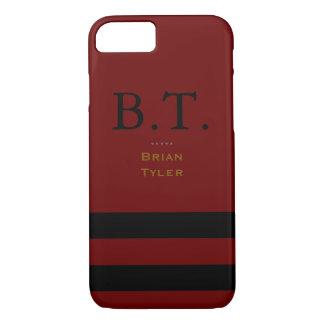 monogram stylish red/black new iPhone 7 case