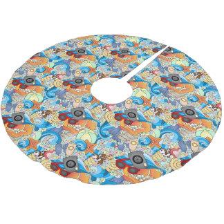 Monogram Summer Fun Pattern 2 Brushed Polyester Tree Skirt