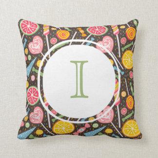 Monogram Sweet Tooth Pillow (Dark)