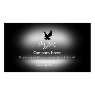 Monogram, Swooping Eagle, metallic-effect Business Card