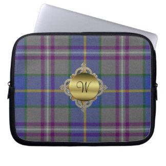 Monogram Tartan Plaid Laptop Cover