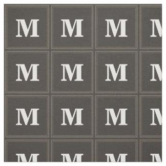 Monogram taupe stripes fabric