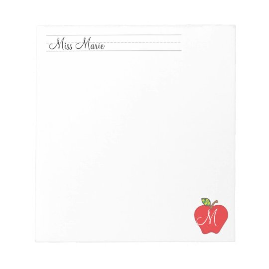 Monogram Teachers      Notepads