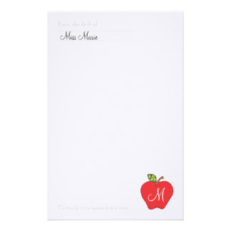 Monogram Teachers Stationery