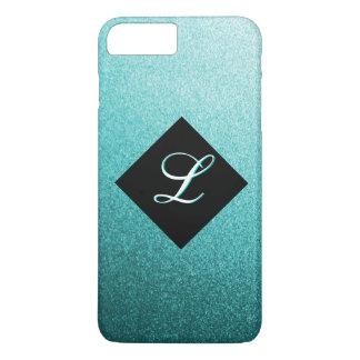 Monogram Teal Metal Flake iPhone 7 Case