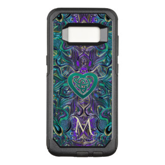 Monogram Teal Purple Mandala Celtic Heart Knot OtterBox Commuter Samsung Galaxy S8 Case