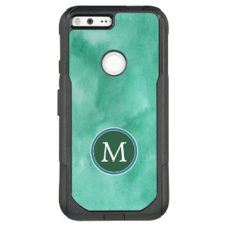 Monogram | Teal Watercolor OtterBox Commuter Google Pixel XL Case