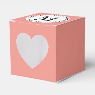 Monogram template favor box