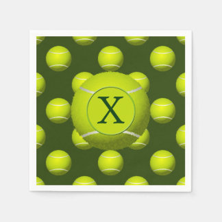 Monogram Tennis Balls Sports pattern, Disposable Napkins