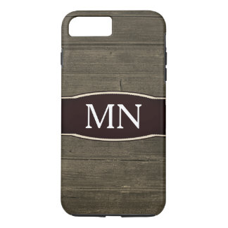 Monogram Texture faux wood grain iPhone 8 Plus/7 Plus Case
