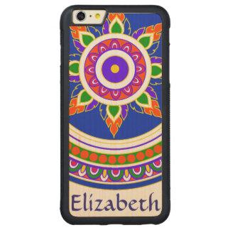monogram Thai design intricate pattern mandala Carved Maple iPhone 6 Plus Bumper Case