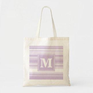 Monogram thistle purple stripes