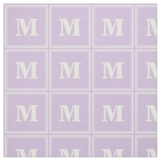 Monogram thistle purple stripes fabric