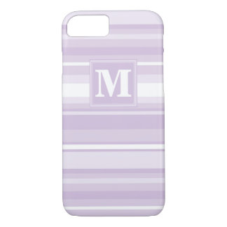 Monogram thistle purple stripes iPhone 8/7 case
