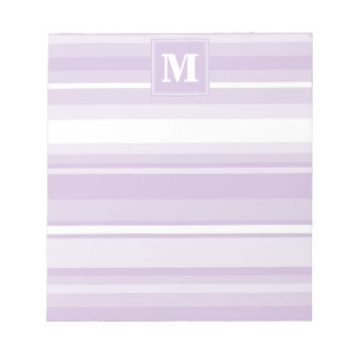 Monogram thistle purple stripes notepads
