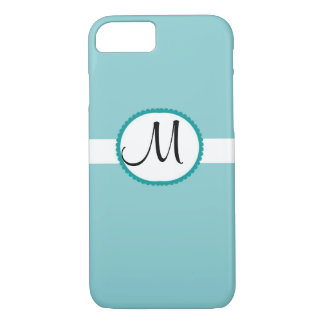 Monogram Tiffany Blue iPhone 7 Case