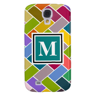 Monogram Tiled Colourful Repeating Pattern Galaxy S4 Case
