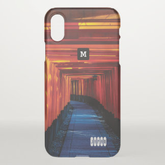 Monogram. Torii in Japan iPhone X Case