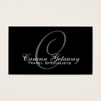 Monogram Travel Agent Business Card