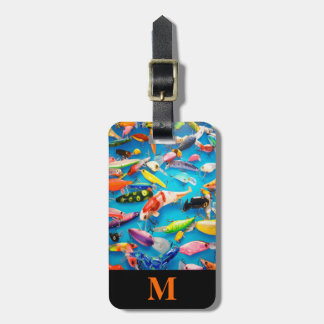Monogram Travel Fishing Lures Luggage Tag