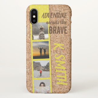 Monogram. Travel Quote. Photo Collage. iPhone X Case