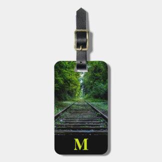 Monogram Travel Summer Forest Railroad Tracks Luggage Tag