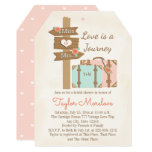 """Monogram Travelling from Miss to Mrs Bridal Shower 5"""" X 7"""" Invitation Card"""