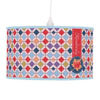 Monogram Trendy Autumn Fall Fashion Color Palette Pendant Lamp