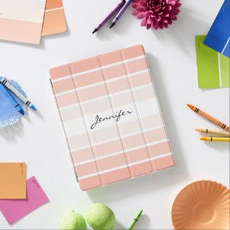 Monogram Trendy Coral Pastel iPad Smart Cover