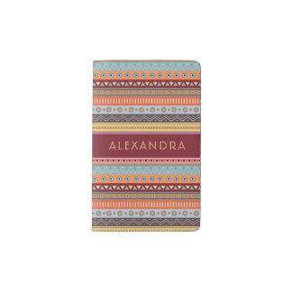 Monogram Tribal Colorful MOLESKINE® Notebook Cover