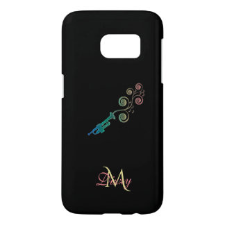 Monogram Trumpet Music Galaxy S7 Case