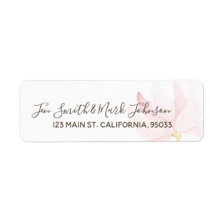 Monogram. Typography Watercolor Floral Wedding.