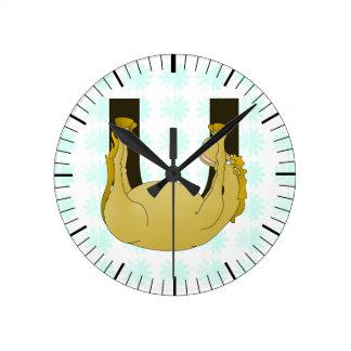 Monogram U Funny Pony Customised Clock