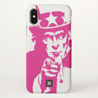 Monogram. Uncle Sam Wants You, Patriot. iPhone X Case