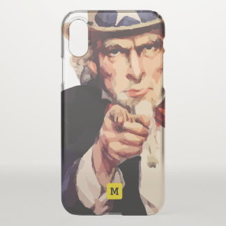 Monogram. Uncle Sam Wants You, Patriot. iPhone X Case