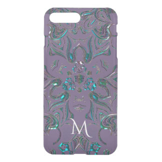 Monogram Unique Jeweled Look Mandala iPhone 8 Plus/7 Plus Case