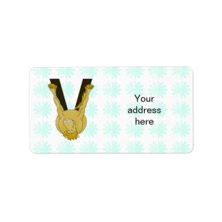 Monogram V Cute Horse Personalised