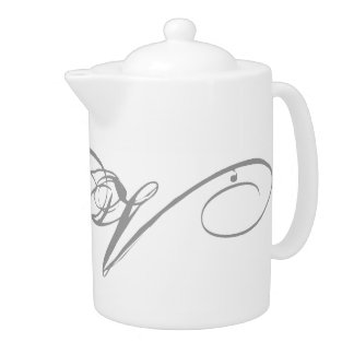 Monogram V Teapot