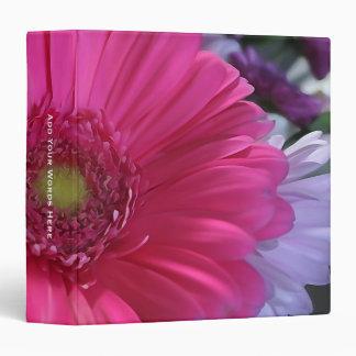 Monogram: Vibrant Pink Daisy Binder