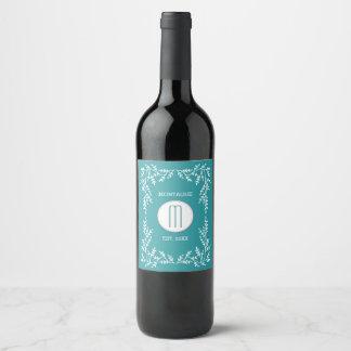 Monogram Vines Wine Label