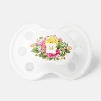 Monogram Vintage Chic Floral Pacifier