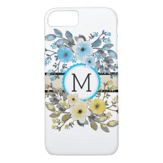 Monogram Vintage Floral Modern Plain White #6 iPhone 8/7 Case