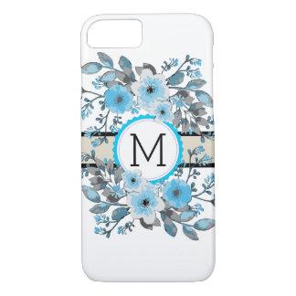 Monogram Vintage Floral Modern Plain White #7 iPhone 8/7 Case