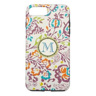 Monogram Vintage Floral Pattern iphone iPhone 7 Plus Case