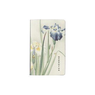 Monogram Vintage Japanese Iris Pocket Notebook