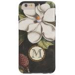 Monogram Vintage Magnolia Flower Pattern iphone Tough iPhone 6 Plus Case